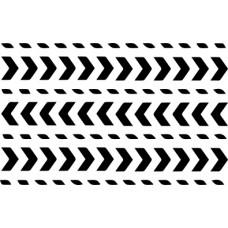 UmWowStudio - Air Mail - Mail Border Stencil