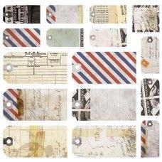 Air Mail - Tags 12x12