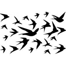 UmWowStudio - Garden Party - Flight of the Swallows Stencil