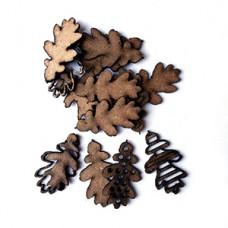 UmWowStudio - Garden Party - Layered Oak Leaves
