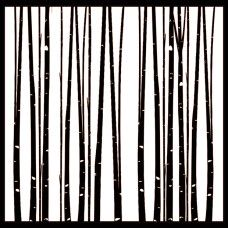Northern Lights - Through The Aspens Stencil